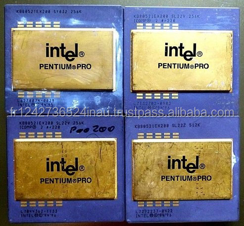 Intel Pentium Pro Ceramic CPU Processor Scrap with Gold Pins forsale at a low rate