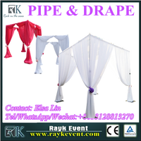 Cheap backdrop pipe and drape for wedding wholesale pipe and drape from China factory
