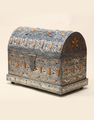 Moroccan bone metal chest