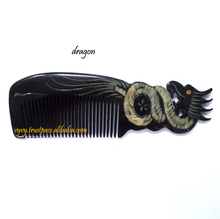 Fashionable Gifts Quality Nice 100% Natural Color Animals Zodiac Vietnam Craft Water Buffalo Horn Hair Comb VVC-005