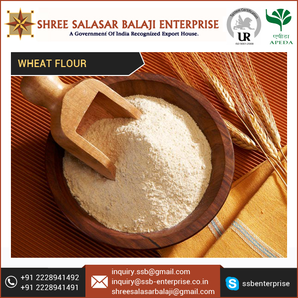 Finely Grinded Wheat Flour with Best Export Quality At Lowest Price in India