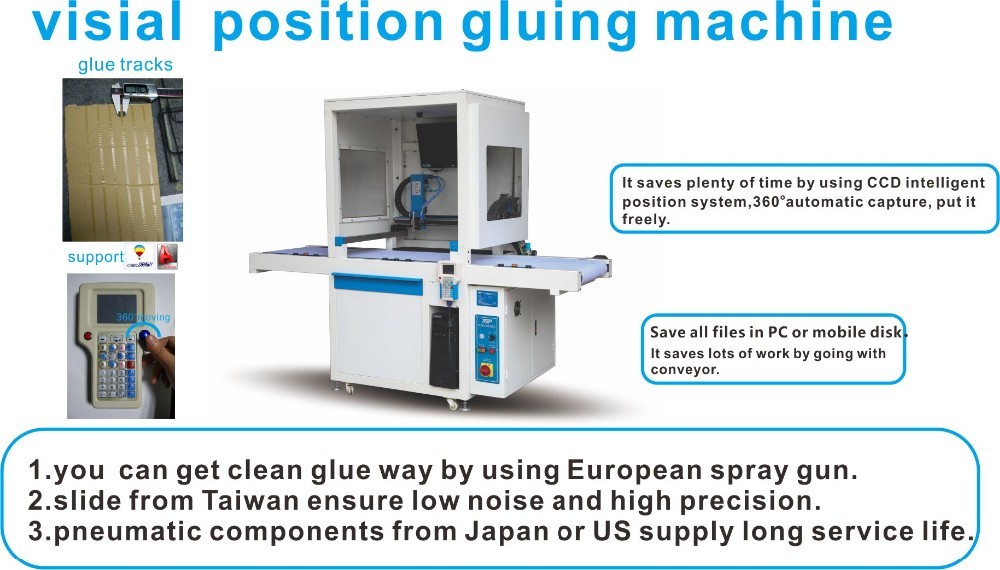 visual positioning high speed gluing machine