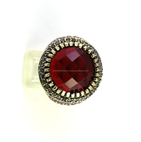 Fashion Beauty Lab Created Ruby 925 Sterling Silver Jewelry, Antique Silver Jewelry, Wholesale Gemstone Rings