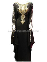 Beautiful golden print embroidery design Best Famous Design Abaya, Jalabiya, Fancy kaftan Dress,Islamic Hijab Clothing, Muslim