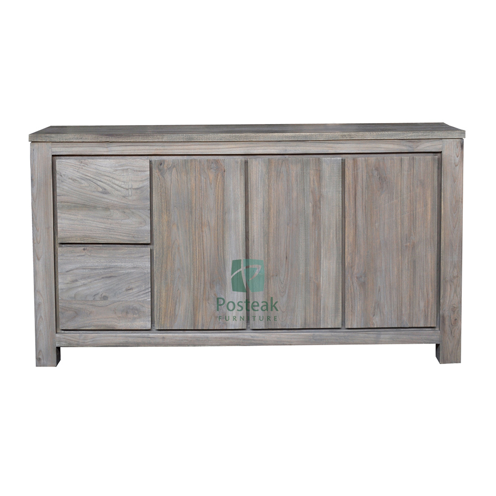 teak sideboard 2 doors 2 drawers solid wood modern furniture
