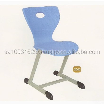 Modern Blue Plastic School Desk for all grades of School Furniture