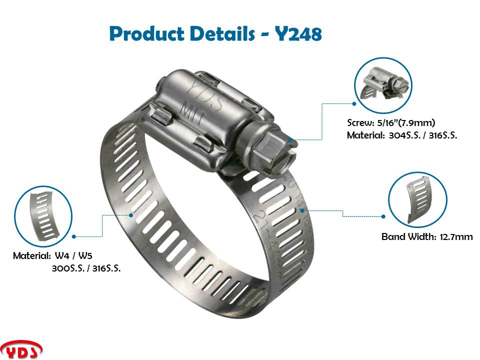American Type  300.S.S stainless steel hose clamp