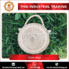 Natural Straw Water Hyacinth 2017 Hot Selling Round Straw Bag Thailand Original Products