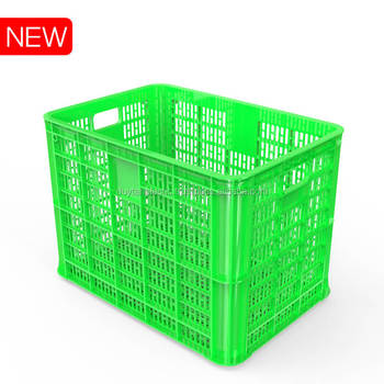 Heavy duty ventilated plastic crate for Vegetables and Food Distribution No.835 Duy Tan Plastics export to China