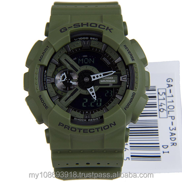 GA-110LP-3A Standart Digital Green Resin Strap Mens Watch
