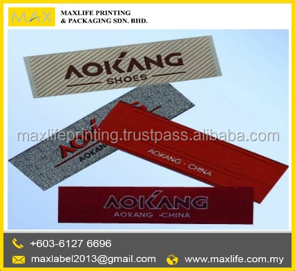 Customized High Quality Custom Woven Clothing Size Labels
