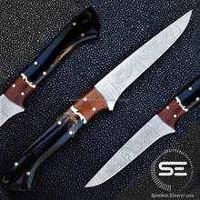 "Kitchen Knife With Buffalo horn Handle ""Damascus Knife"""