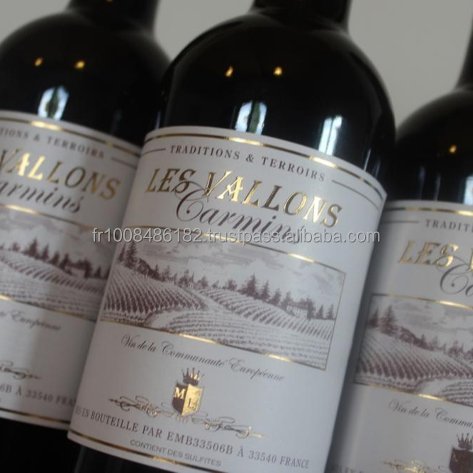Red wine Les Vallons Carmins
