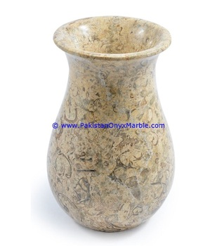 natural stone CREATIVE DESIGN ONYX & MARBLE VASES FOSSIL COREL