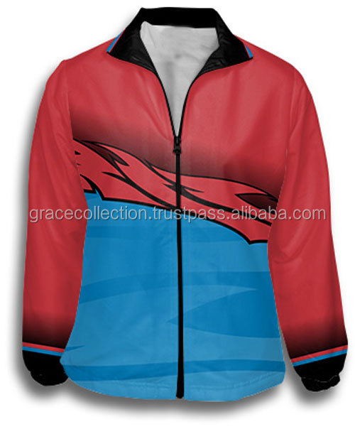 High Quality 100% Polyester Track Jacket Sublimated Soccer Track Suit