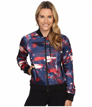 custom satin sublimation varsity bomber jacket/sublimation printed bomber jacket