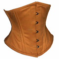 Brown Cotton Waspie Corsets With Double Steelboned Supplier