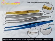 Blue Titanium , Gold Titanium and Silver color is very beautifull And Good Quality Tweezers From Stylish Beauty Industry