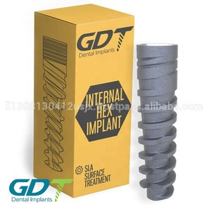 Spiral Implant Slim, Internal Hex 2.1mm Dental Connection GDT Brand Implants Titanium Material