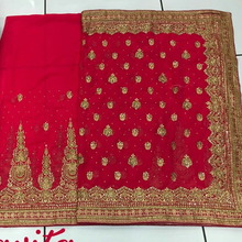 Embroidery gerry work saree