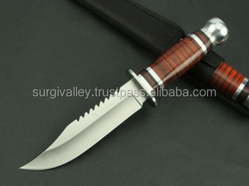 Sharp Bald Warriors Outdoor camping tool bowie survival Hunting Knife Nice Quality