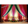Asian Wedding Stage Backdrop Curtains, Royal Wedding Stage Backdrop Cloth frames, Best Wedding Stage Backdrop Decoration