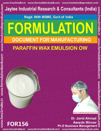 formula document for making PARAFFIN WAX EMULSION OW