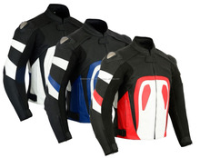 Men's High Quality Racing Windproof Protective Gear 100% Original Leather Motorbike Jacket