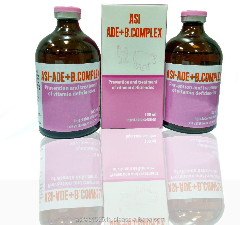 GMP, Vitamin AD3E B Complex injection for veterinary medicine/cattle/animal/pigs < ASIFAC>