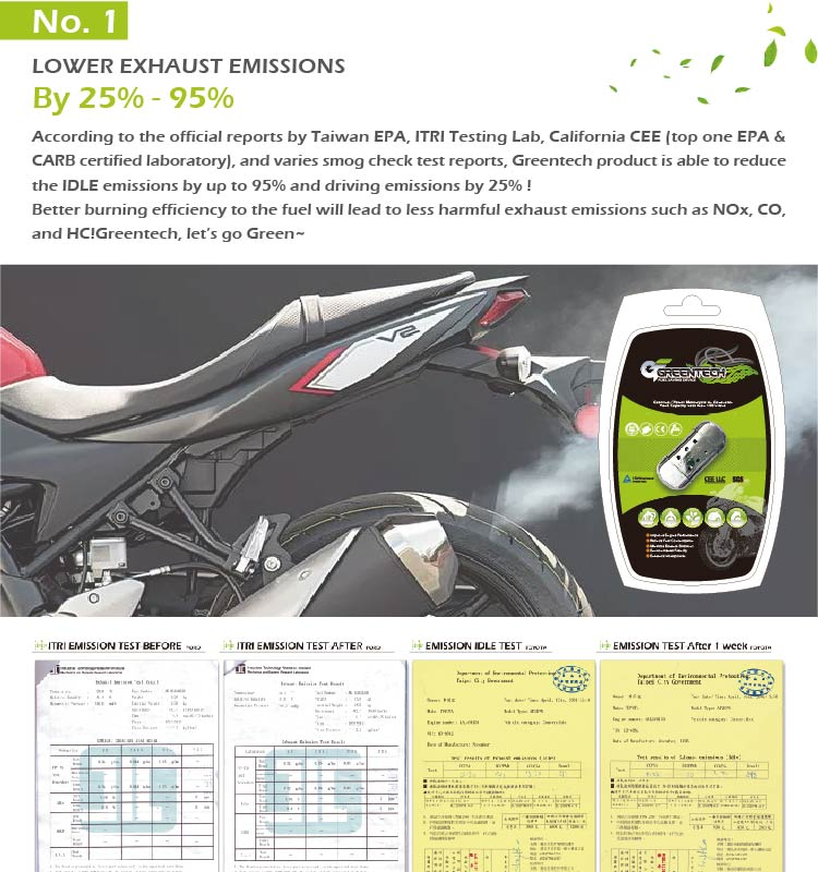 Greentech fuel saving device for scooter motor