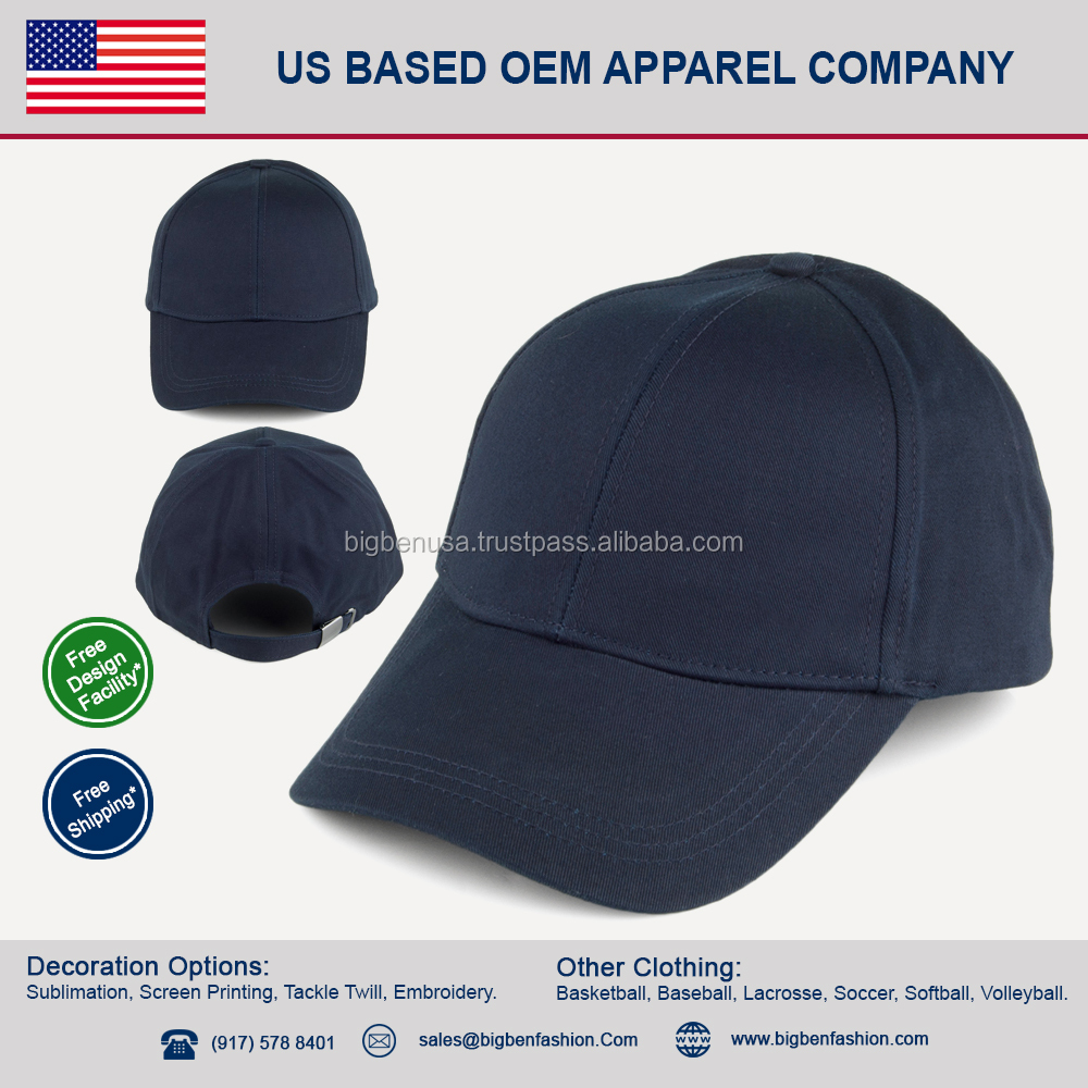 wholesale custom made Blank Baseball Cap with Adjustable strap