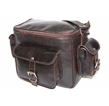 Real Leather Handmade Vintage Indian Black Color messenger camera bag