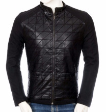 100% Polyester Black Front Thermo Padded Casual Jackets