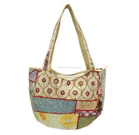 indian ethic cotton bohemian patchwork hippie ladies tote carry bag girls messenger fashionable bag