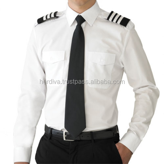 Student University Pilot Uniform Long Sleeve Cotton Soft High Quality LOW PRICE CUSTOM MADE OEM ODM manufacture malaysia Airline