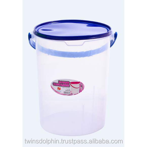 28L Clear Plastic Round Container With Handle