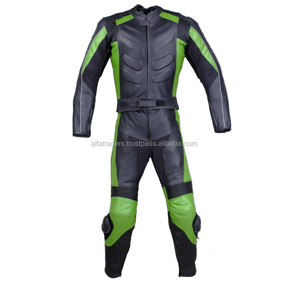 OEM Latest Style Motor Bike Suit / Custom Motorcycle Leather Race Suit Biker Racing Suit for boys