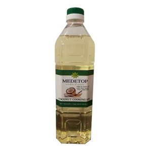100% Malaysia Refined Coconut Cooking Oil 1Liter (33.81 US FL OZ)