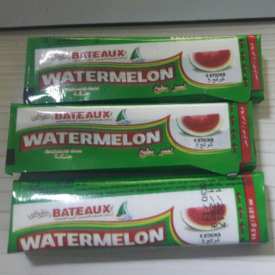 BATEAUX WATERMELON FLAVOURED STICK CHEWING GUM