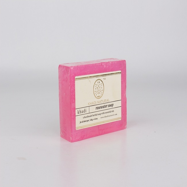 Khadi Natural Herbal Rose Water Soap