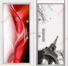 anti theft fully safe steel door with alarm