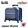Design registered style and 100% PC embossed body carry-on luggage for business and travel use with original silent caster