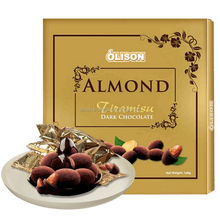 OLISON 160g Tiramisu Almond Dark Chocolate