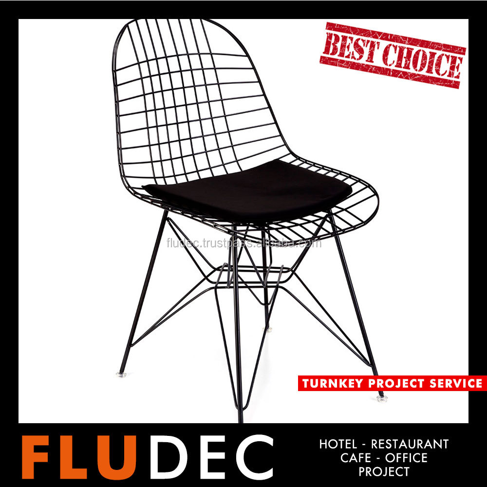 Vernell | Motel Furniture | HC - 302 | Wire Leg Chair | Comfortable and Ergonomic