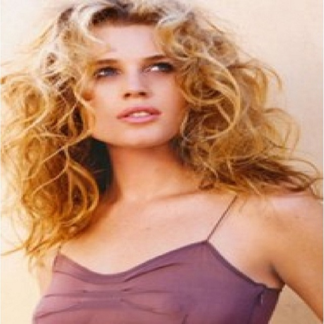 "18"" Ombre Golden Long Rebecca Romijn Deep Wave 130% Density Human Hair Wigs"