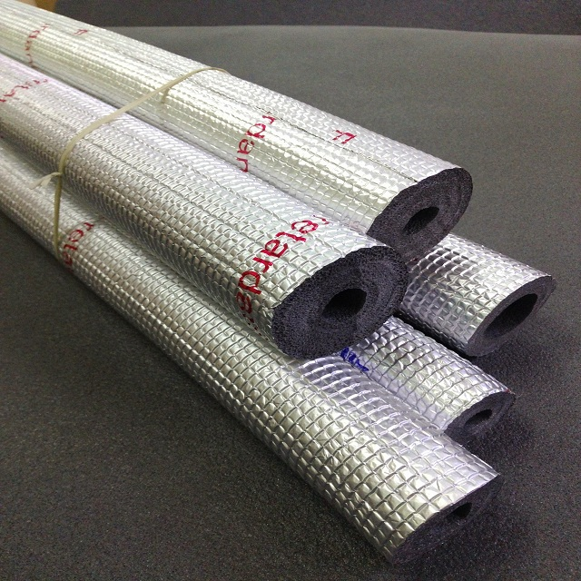 XPE Pipe Insulation with Embossed Aluminum foil All