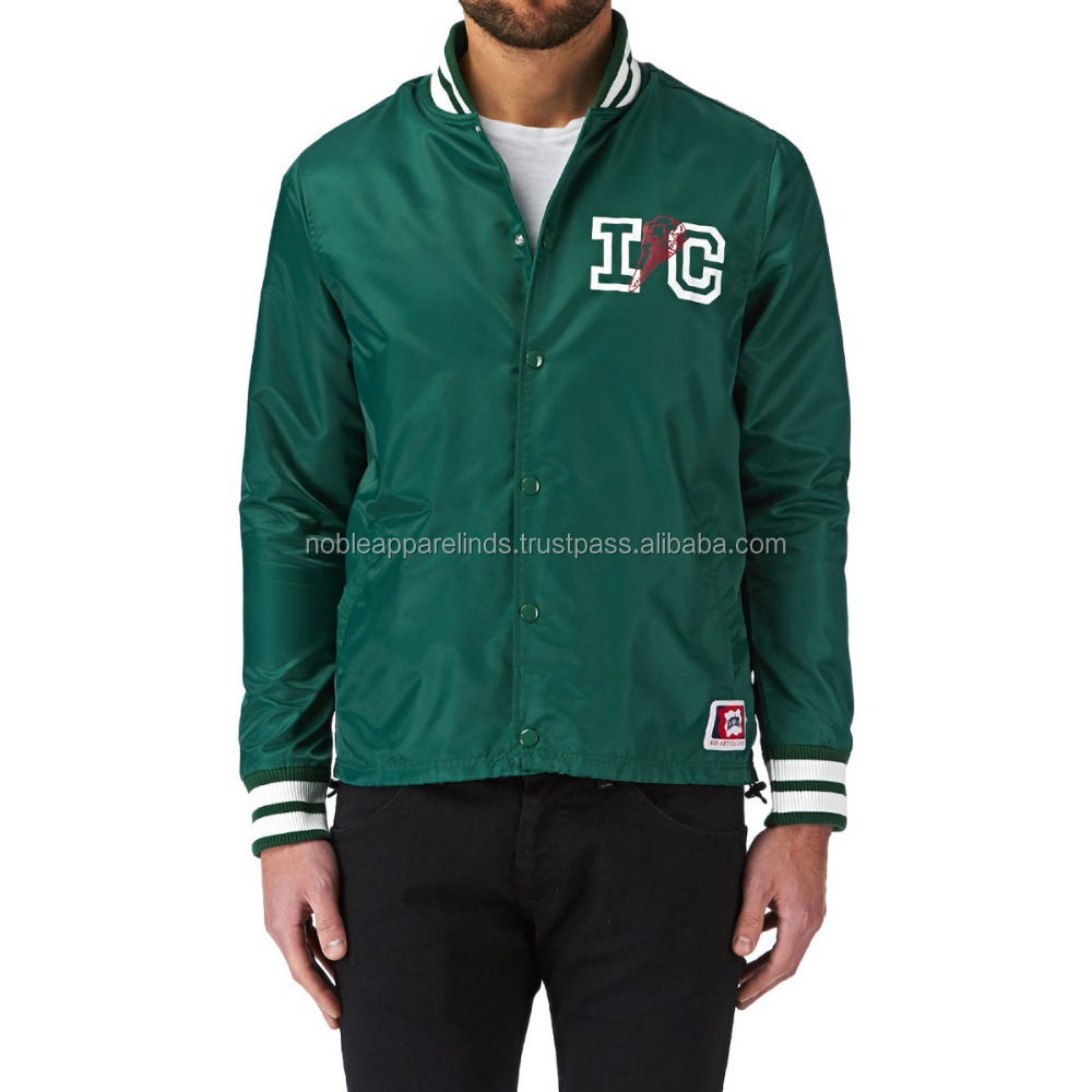 Custom Jacket High Quality Black Men Nylon Coaches Jacket with Hood and Custom nice color for men