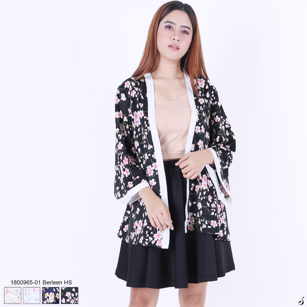 New Design High Quality Kimono Style Woman Cardigan Floral Pattern