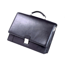 Custom design PU leather waterproof briefcase rolling men laptop bag for 13'' laptops