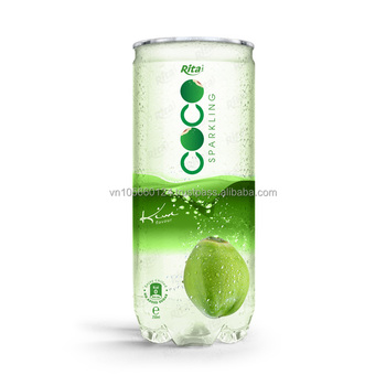 Tropical 250ml Pet Can Kiwi flavor with sparking coconut water